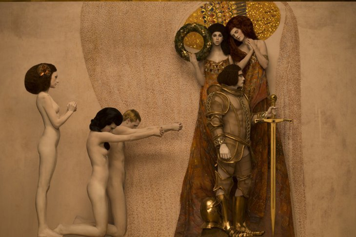 detail-of-inge-praders-recreation-of-gustav-klimts-beethoven-frieze-1901