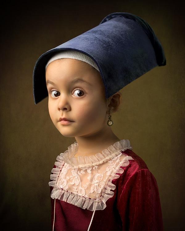 BILL GEKAS Klasični portreti sa kćerkom postajunadrealni