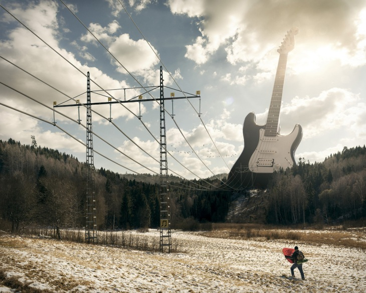 Electric guitar Erik Johansson