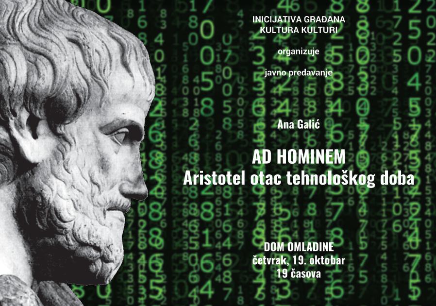 AD HOMINEM Aristotel: otac tehnološkogdoba