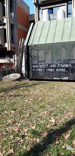 Foto: poruka fakultetu i savezu