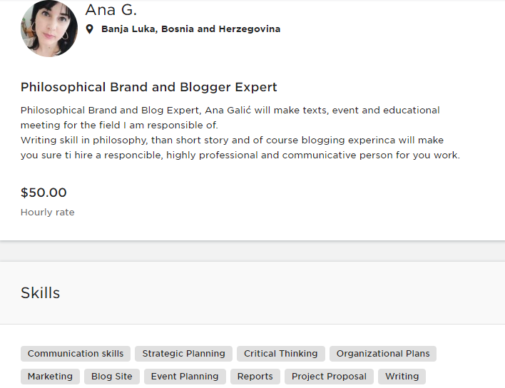 My name is Ana G. PHILOSOPHICAL BRAND AND BLOGGER EXPERT